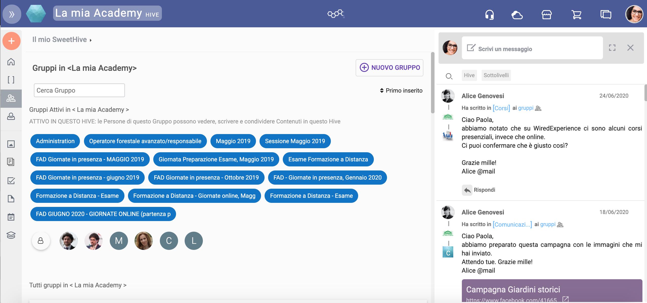 I gruppi per un alveare digitale